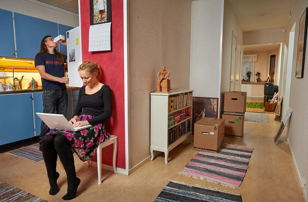 Hemma hos Andrea & Oskar